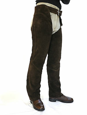 Just Chaps Adult Brown Suede Full Chaps Western riding cowboy 15% OFF All sizes