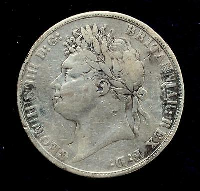 Rare 1821 King George IV Silver Crown  Secundo Edge