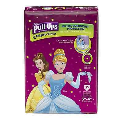 Pull-Ups Night-Time Training Pants 3T-4T Girl, Mega Pack, 35-Count