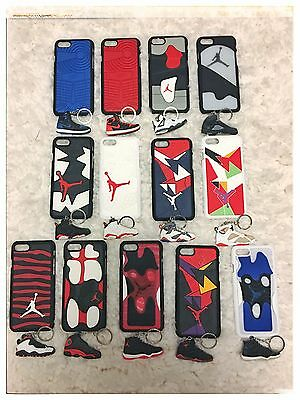 LOT (13) Jordan OLYMPIC BRED CEMENT SPACE JAM iPhone 7 Case Shoe Sole