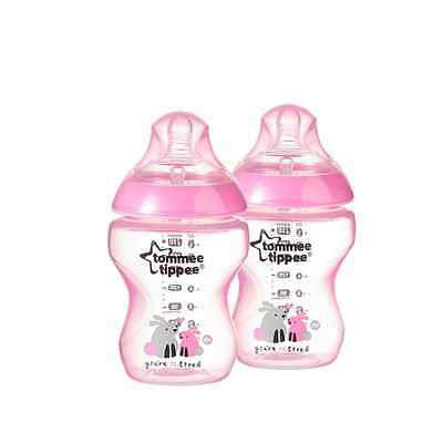 Tommee Tippee 2-Pack 9-Ounce Girls Deco Bottles, Pink