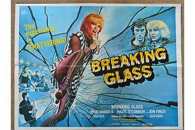 Fabulous Original 1980 Breaking Glass Film Poster