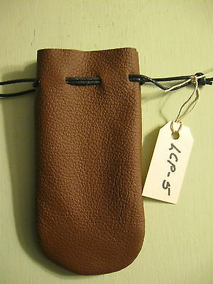 Lcp-05 Brown  Leather Coin Pouch Or Bag Free Shipping In Usa.