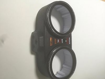 Top Instrument Housing with Speedo and Tach Lenses '74-'77