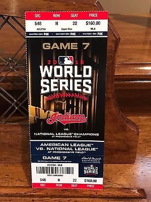 Chicago Cubs Cleveland Indians World Series Game 7 Mint Ticket Stub