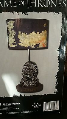 NEW Game of Thrones Iron Table Lamp Westeros Map Lamp Shade