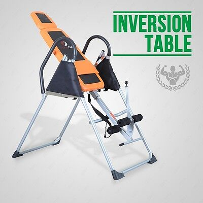 BN Fitness Club Orange+Black Inversion Table Chiropractic Table Pain Relief