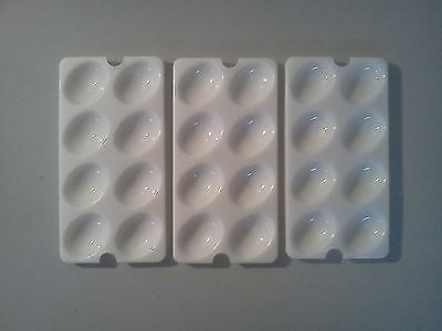 3 Tupperware Deviled Egg Keeper Carrier Tray Insert  Egg  Replacement 3 Vintage