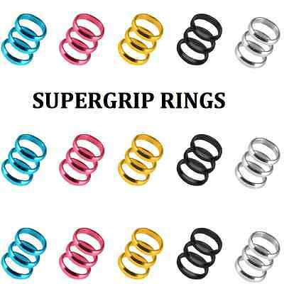 Harrows Supergrip Rings Alloy Use With Super Grip Dart Stems Shafts - 5 Colours