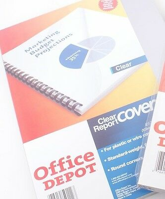 PACK of 100  8 Mil Binding Covers Office Depot GBC Report Cover