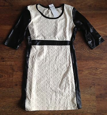 Christmas dress beige / cream and black  evening/ party/ casual dress size 12