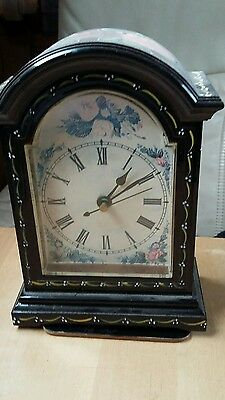 Canal narrowboat hand painted Mantle Carriage Clock
