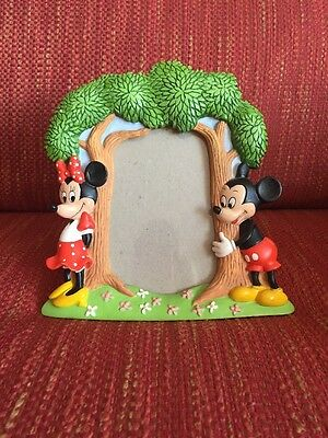 Disney Mickey Mouse and Minnie Mouse Picture Frame - Adorable!