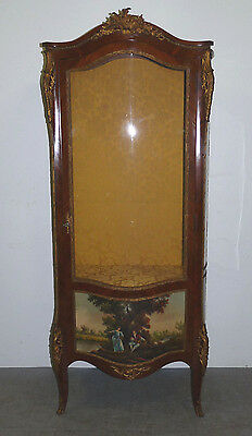 Antique Vernis Martin French Curio China Cabinet Cupboard Ormolu Painted 111210