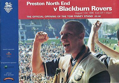 Preston North End V Blackburn 12/8/96  Official Opening Of The Tom Finney Stand