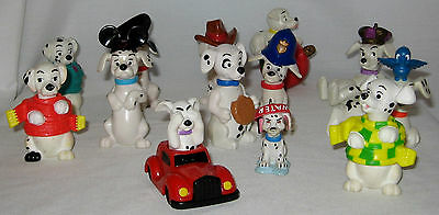 101 Dalmations Figurine Toy Cake Toppers 13 PC Lot