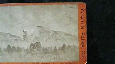 Stereoview Yosemite Valley South Dome from Meadow E & H T Anthony American Views