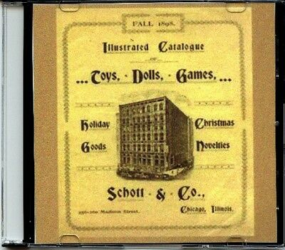 1898 Schott & Co. Illustrated Catalogue on CD - Toys