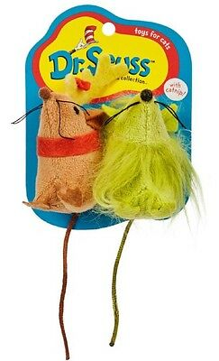 Dr Seuss Cat Toys, Grinch Mice 2 PK Toy- Free Shipping