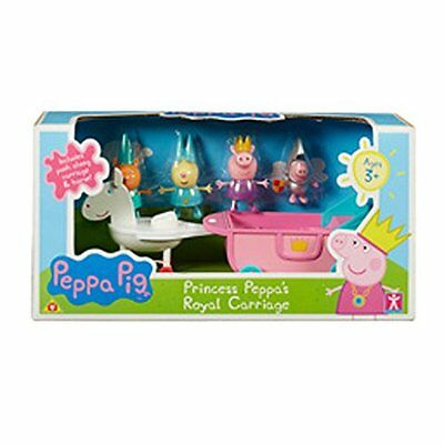 Peppa Pig Princess Peppa's Royal Carriage Playset with 4 Figures