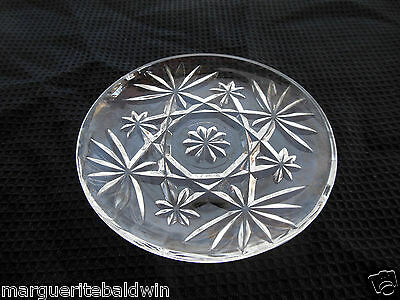 """Anchor Hocking Glass Clear Early American Prescut 4 1/2"""" Saucer Under Plate"""