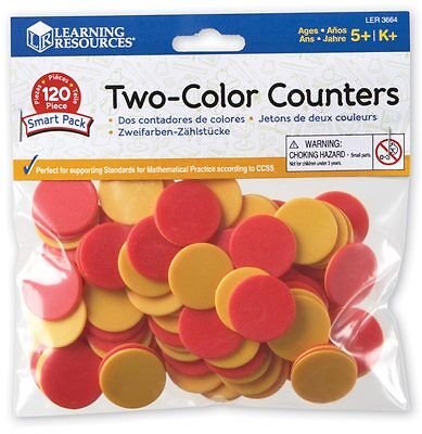 Learning Resources Two-Colour Red & Yellow Counters For Children - NEW