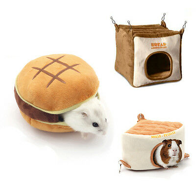 Small Animal Pet Hamster House Nest Rat Mouse Hammock Bed Hedgehog Mat Pad