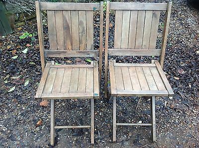 Lovely pair of vintage folding chairs