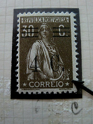 Portugal Stamp Ceres 1928-9 P.Liso Perf:12x11½ AF#452 MH Cliché Variant