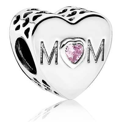 Genuine Pandora Mum Mother Heart charm S925 ALE newc9