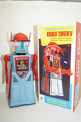 CHIEF SMOKY ROBOTMAN HA HA TOY hellblau  Space Roboter China Re-Issue