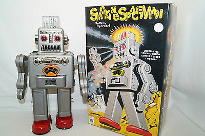 SMOKING SPACEMAN HA HA TOY Silber  Space Roboter China Re-Issue