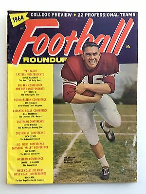 1964 Football Roundup Yearbook Magazine. College & Pro Previews