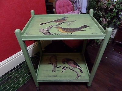 Art Deco Hostess Trolley Decoupaged *** One Of A Kind *** Stunning