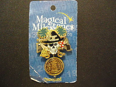 Disney Magical Milestones 2003 Premiere Of Pirates Of The Caribbean Pin On Card