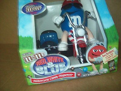 M&m Red/white/blue Motorcycle Candy Dispenser