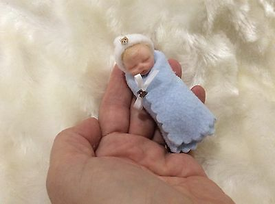 OOAK Polymer Clay - Handmade Bundle Christmas Baby Boy -  by Sue Radford