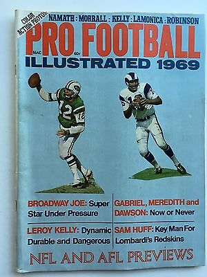 1969 Pro Football Illustrated Yearbook.  NFL & AFL Previews.