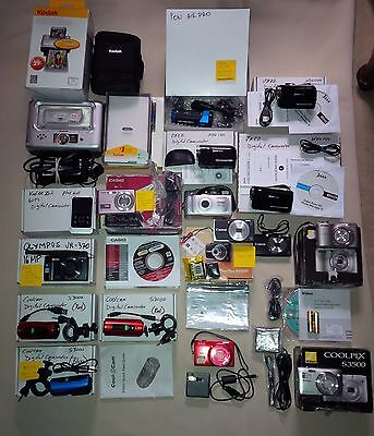 ONE Lot of Cameras and Accessories