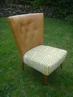 VINTAGE RETRO 50/60/70s FAN BACK COCKTAIL/ EGG/TUB STYLE ARMCHAIR