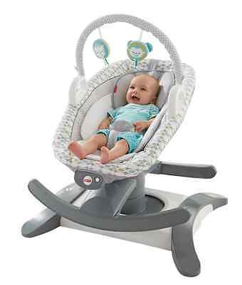 Fisher-Price 4-in-1 Rock 'N' Glide Soother - Aqua Stone