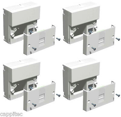 TRADE PACK OF 4x TELEPHONE MASTER SOCKETS NTE5A + BACK BOXES, SCREW TERMINALS