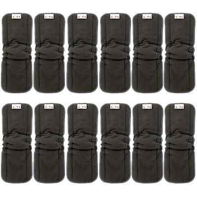 Alva Baby 5-Layer Charcoal Bamboo Inserts Reusable Liners for Cloth Diapers with
