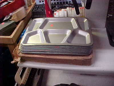 USGI Stainless Steel Military Mess Trays New never used Lot of 12 NASH CAMPING