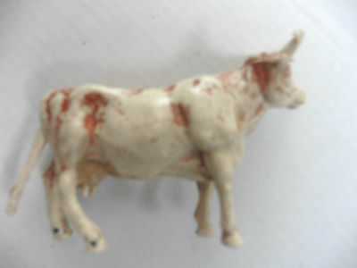 Cherilea  Plastic Toy  Brown/white Bull Cow  1960's Rare