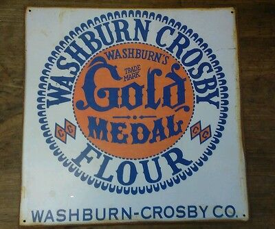 WASHBURN AND CROSBY GOLD MEDAL FLOUR Tin Sign Reproduction