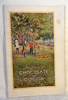 """1926 SC Book """"The Story of Chocolate and Cocoa Hershey PA Good COnditon History"""