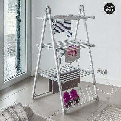 Comfy Dryer Compak Heated Clothes Airer, Electric Indoor Dryer Horse, Quick Dry
