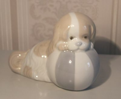 Spaniel With A Ball By Miquel Requena - Perfect Condition