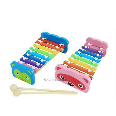 8 Notes Musical Xylophone Piano Wooden Instrument for Educational Child Toy VF